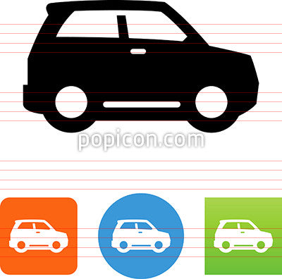Crossover Sport Utility Vehicle Side View Icon