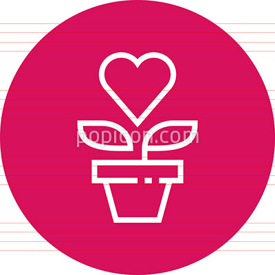 Cultivate Affection Growth Outline Icon