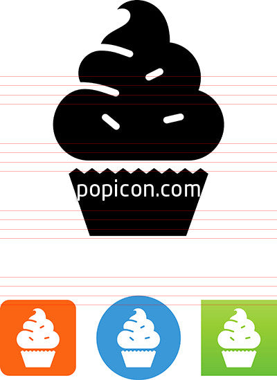 Cupcake With Sprinkles Icon