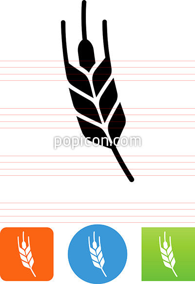 Curved Wheat Grain Icon