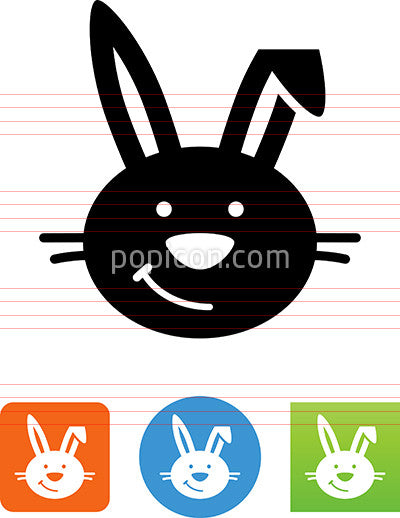 Cute Bunny Rabbit Icon