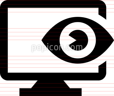 Cyber Security Seeing Eye Icon