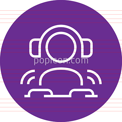 DJ Disk Jockey Outline Icon