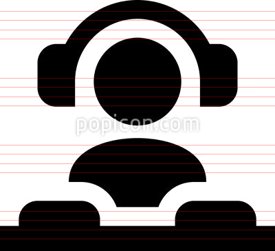 DJ Disk Jockey Vector Icon