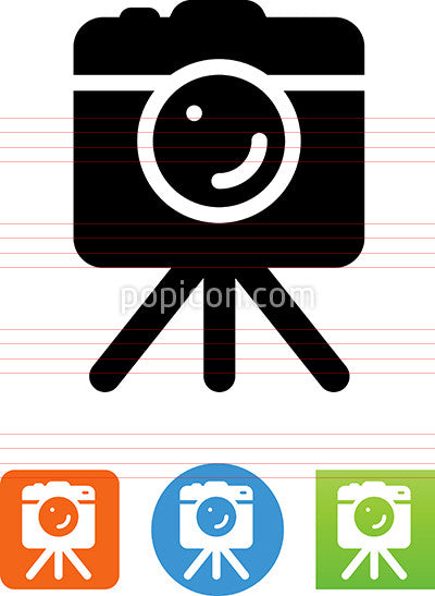 DSLR Camera On Tripod Icon