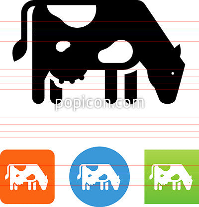 Dairy Cow Grazing Icon