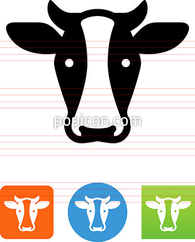 Dairy Cow Head Icon