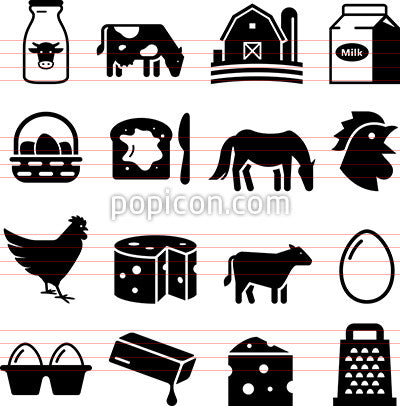 Dairy and Eggs Icons