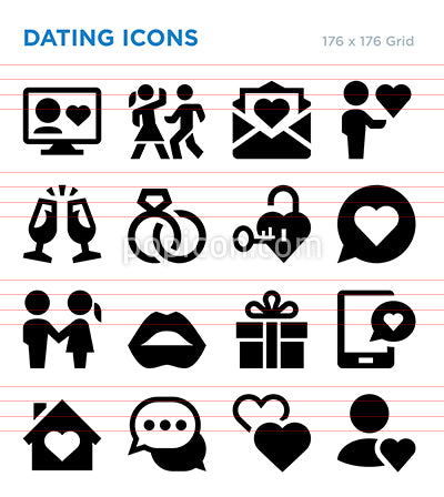 Dating Vector Icon Set
