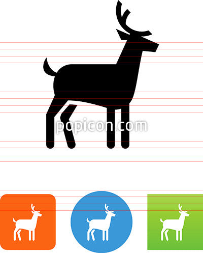 Deer With Antlers Icon