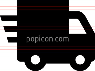 Delivery Truck Quick Ship Vector Icon