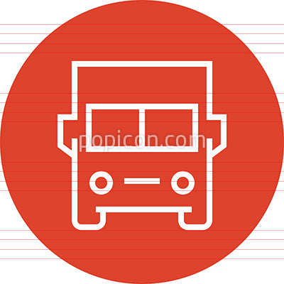 Delivery Truck Shipping Outline Icon