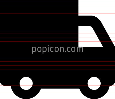 Delivery Truck Shipping Vector Icon
