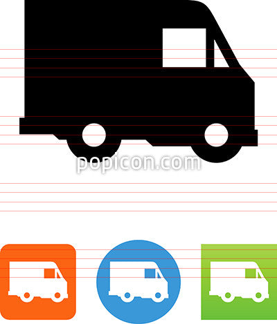 Delivery Truck Side View Icon