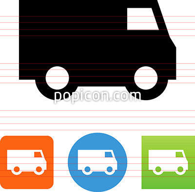 Delivery Van Side View Icon