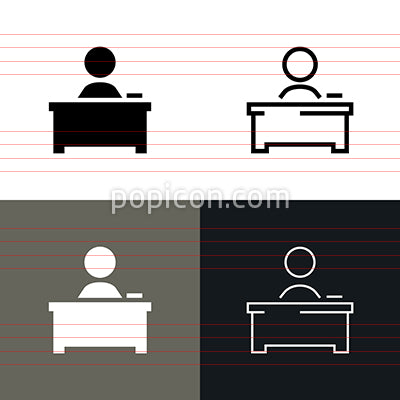 Desk Icon Set