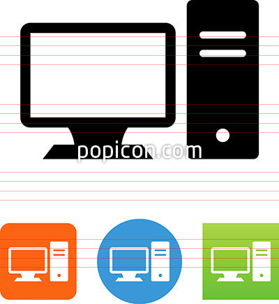Desktop Computer And Monitor Icon