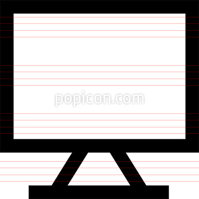 Desktop Computer Monitor Vector Icon