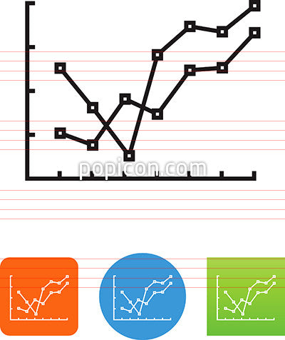 Detailed Line Graph Icon