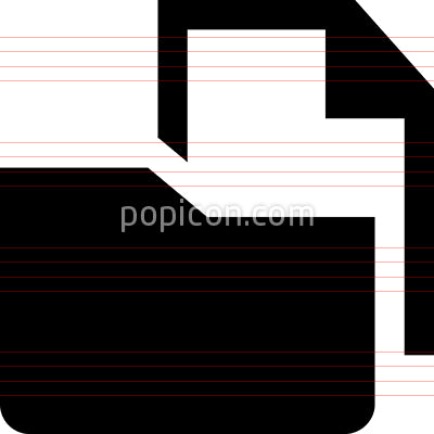 Document In Folder Vector Icon