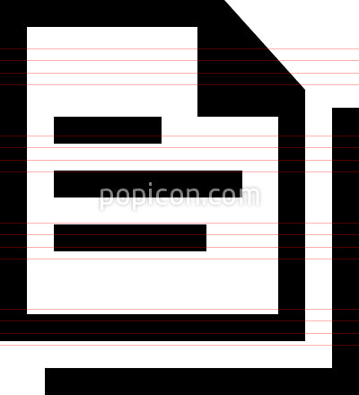 Document Stack Vector Icon