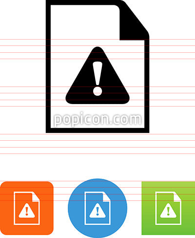 Document With Alert Icon