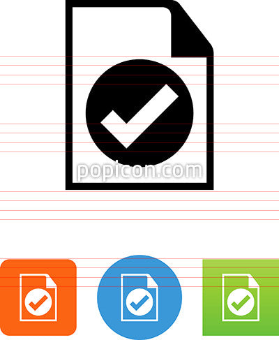 Document With Checkmark Icon