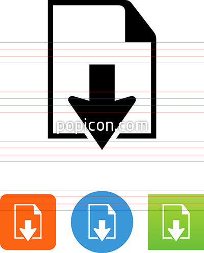 Document With Down Arrow Icon