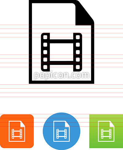 Document With Film Icon