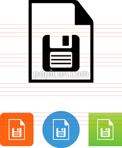 Document With Floppy Disk Icon
