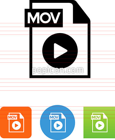 Document With Movie Player Icon