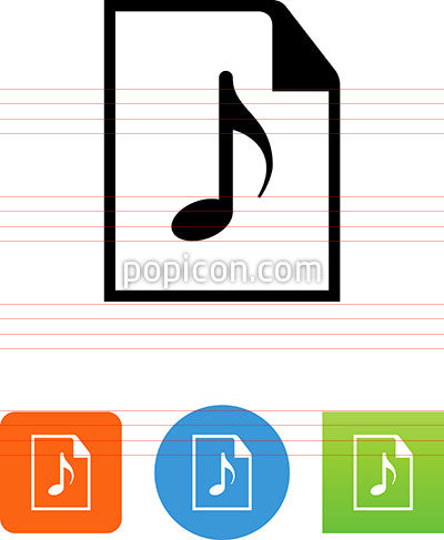 Document With Music Note Icon