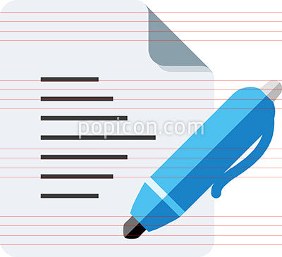 Document With Pen Icon