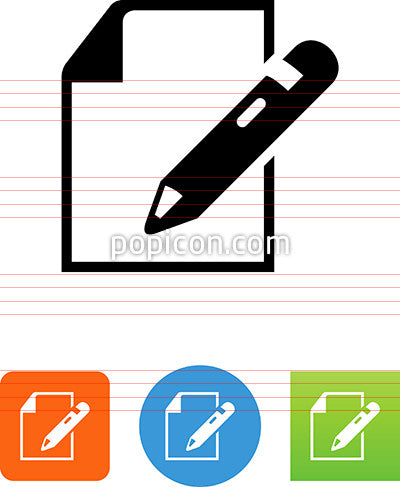 Document With Pencil Icon