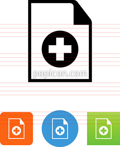 Document With Plus Icon