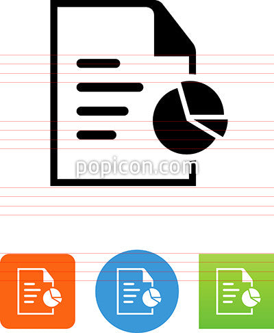 Document With Report And Pie Graph Icon