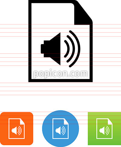 Document With Speaker Icon