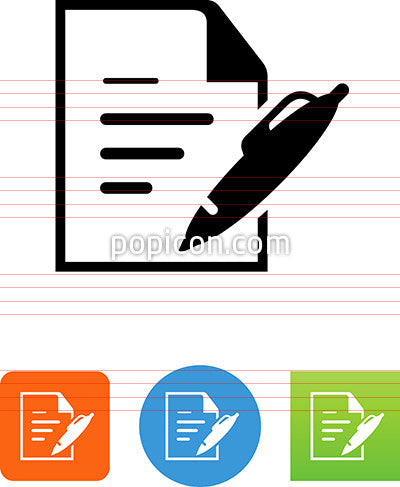 Document With Writing Icon