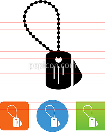 Dog Tags Military ID Icon