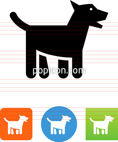 Dog Wagging Tail Icon
