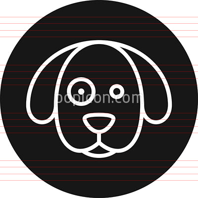 Dog's Head With Sport Over Eye Outline Icon