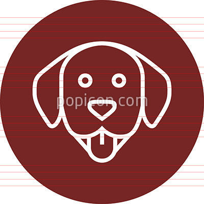 Dog's Head With Tongue Out Outline Icon