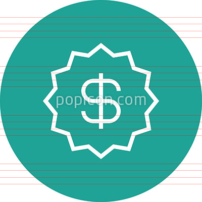 Dollar Sticker Price Outline Icon