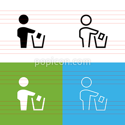 Don't Litter Icon Set