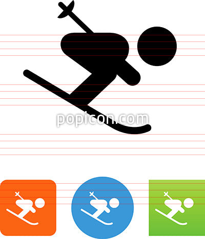 Downhill Skier Icon