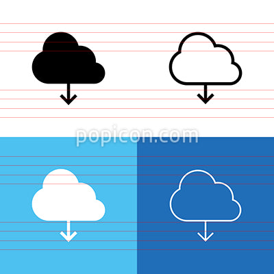 Download From Cloud Icon Set