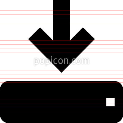 Download To Hard Drive Vector Icon
