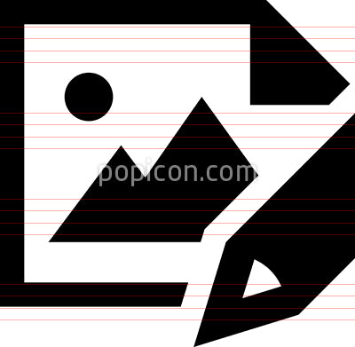 Drawing Pencil Canvas Vector Icon