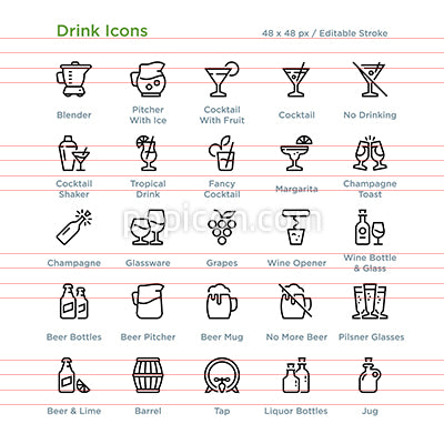 Drink Icons - Outline