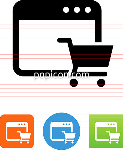 E Commerce Web Site Icon